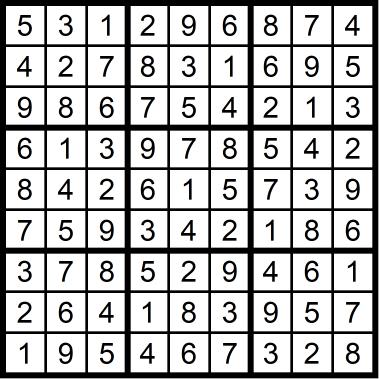 Sudoku Easy September 25, 2020