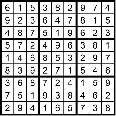 Sudoku Medium September 25, 2020