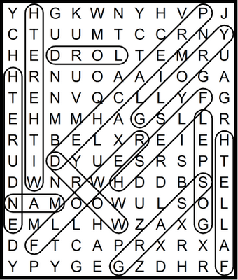 Bible word Search I Peter - November 20, 2020
