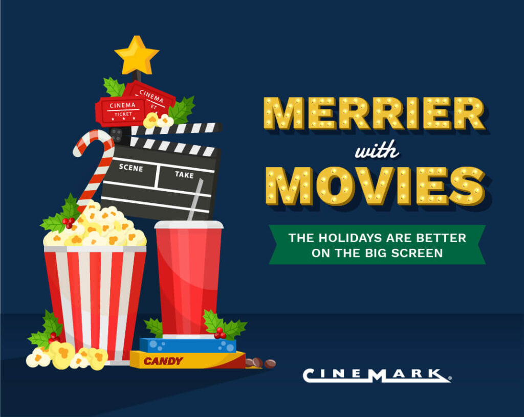 Cinemark to make the holidays merrier with movies, beginning with giveaways to be thankful for in November