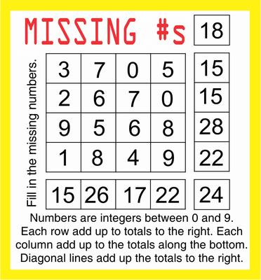 Missing Numbers November 20, 2020