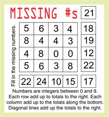 Missing Numbers November 6, 2020