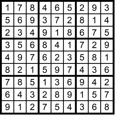 Sudoku Medium November 20, 2020