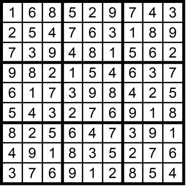 Sudoku Medium November 6, 2020