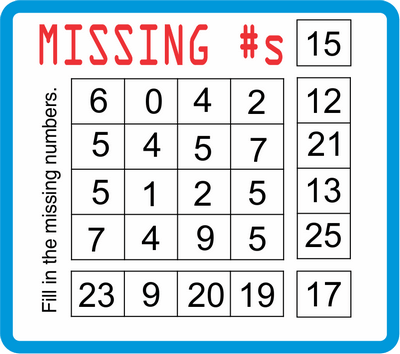 Missing Numbers January 28, 2021