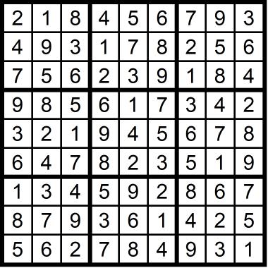 Sudoku Medium January 14, 2021