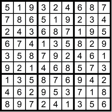 Sudoku Medium January 28, 2021