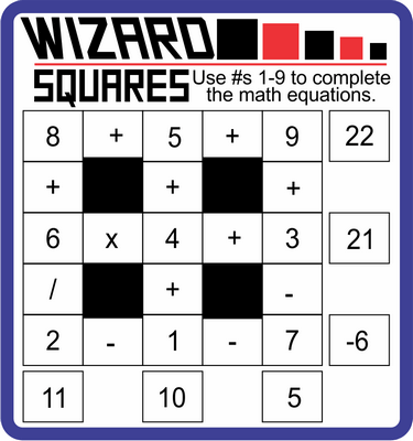 Wizard Squares January 14, 2021