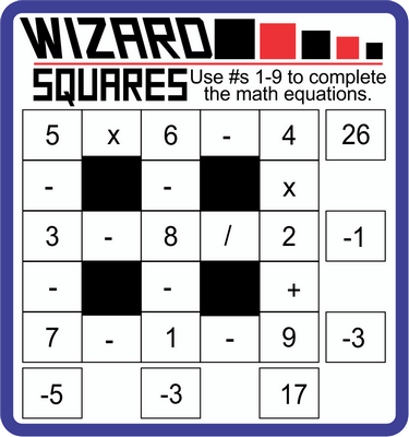 Wizard Squares January 28, 2021