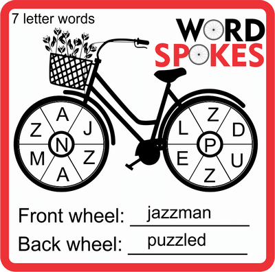 Word Spokes Puzzle January 14, 2021