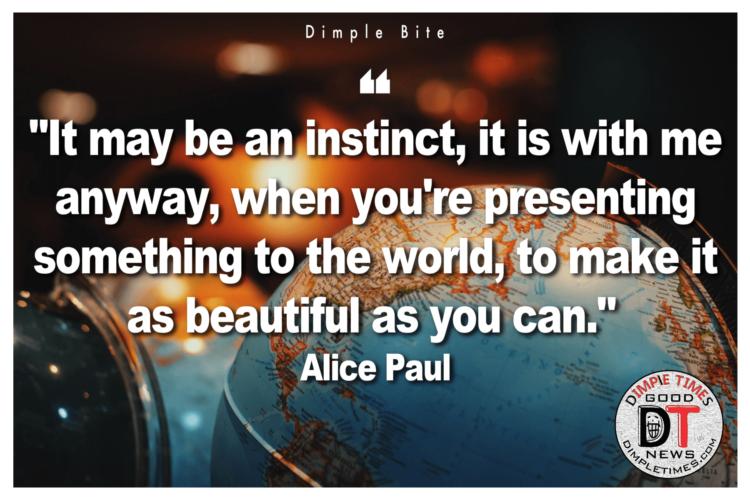 Alice Paul Quote