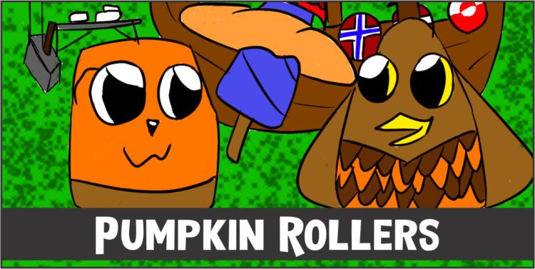 Comic Strip Pumpkin Rollers