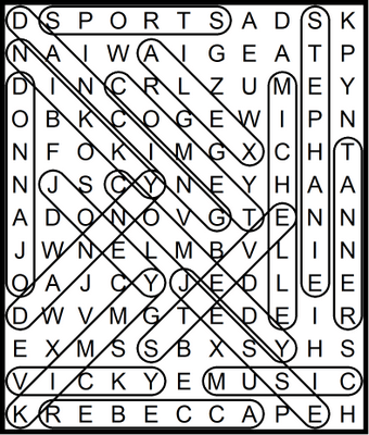 Full House Word Search February 11, 2021