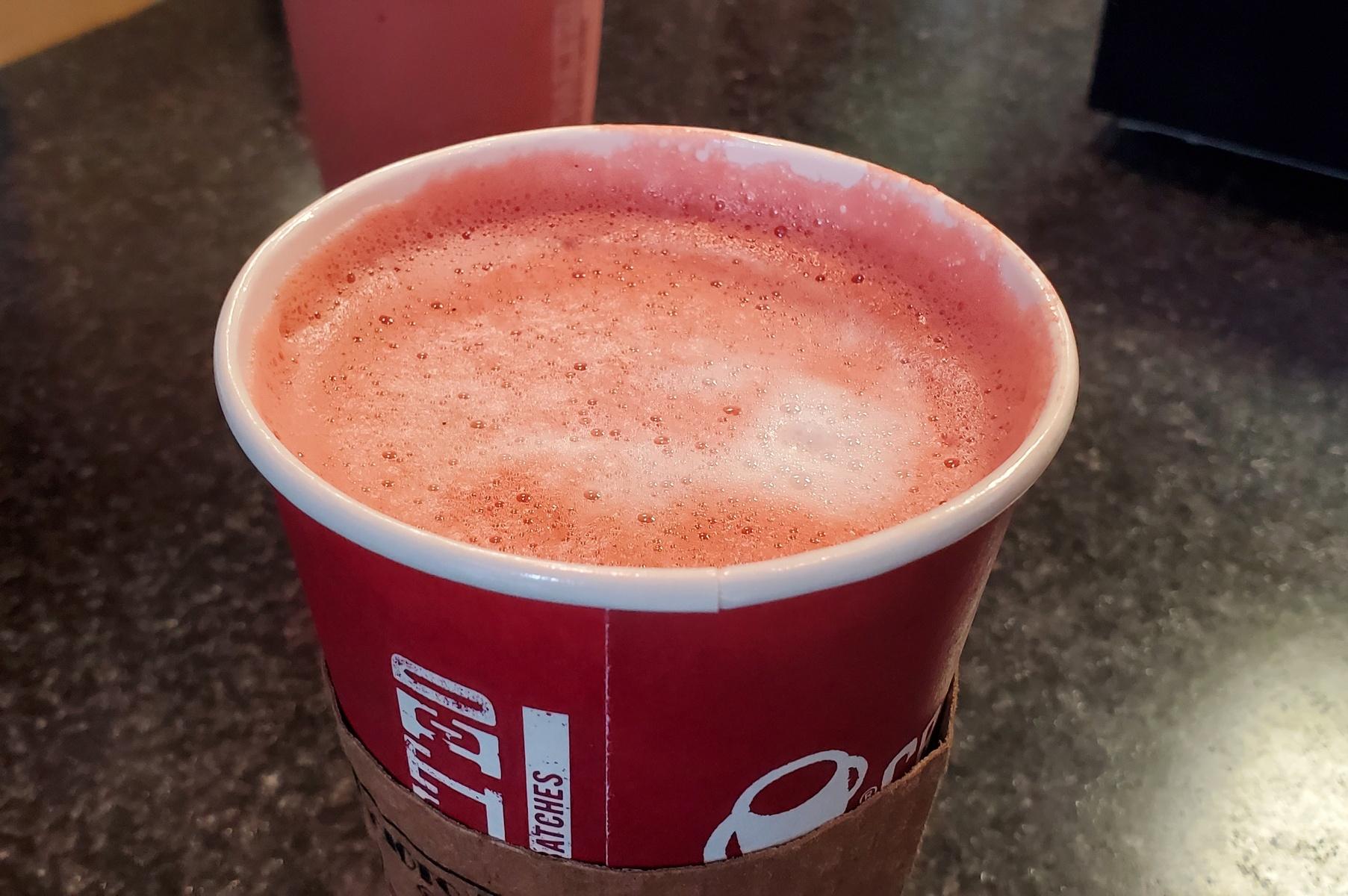 Hot Red Velvet Mocha at Scioto Valley Coffee