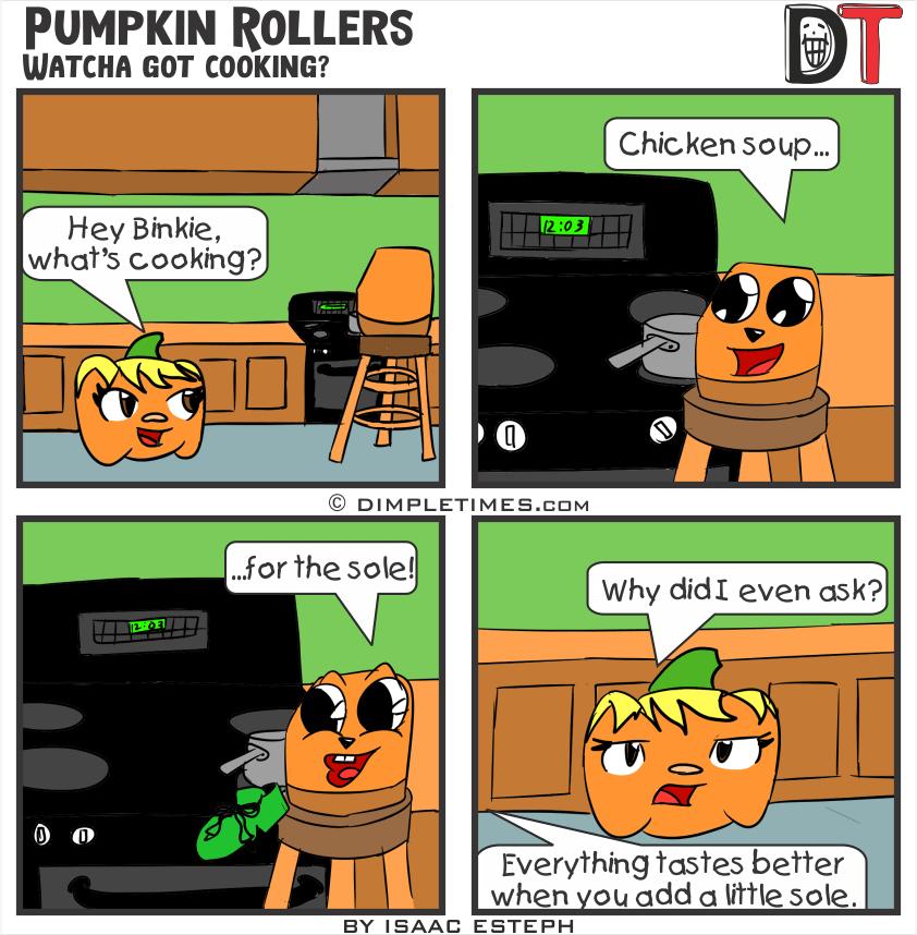 Pumpkin Roller Comic - watcha got cooking - August 2019