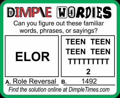 Dimple Wordies February 11, 2021