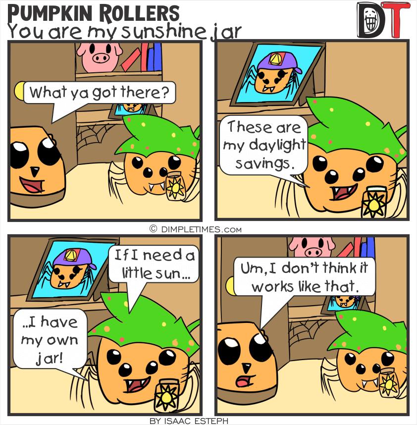 Pumpkin Roller Comic - You are my sunshine jar - January 24th 2020