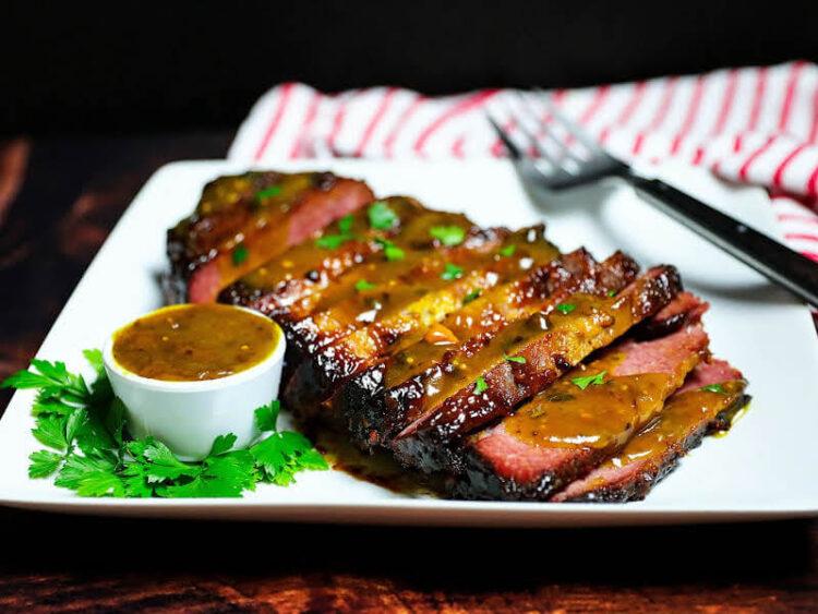 Sweet and sassy corned beef brisket