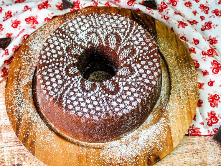 The ultimate chocolate pound cake