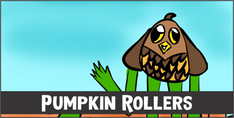 Pumpkin Rollers cover template
