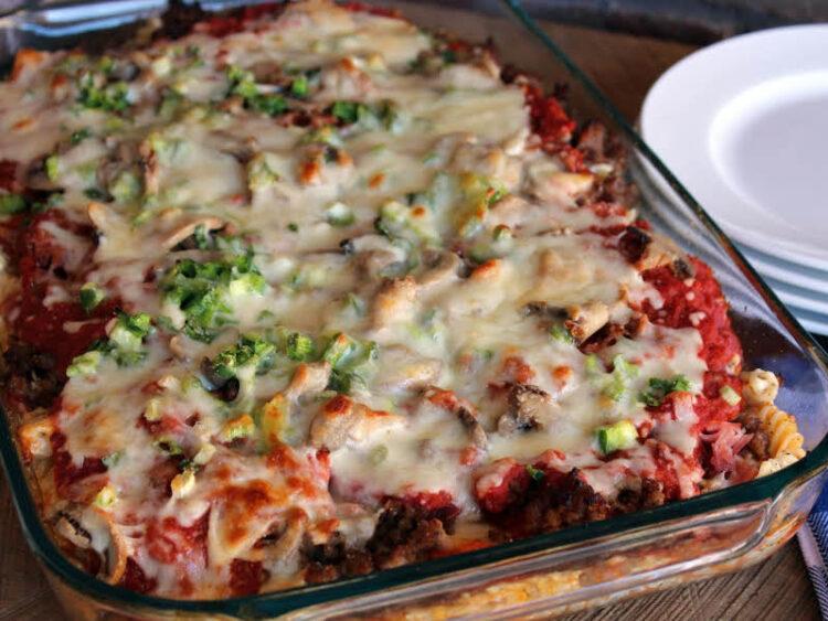 Loris Creamy Pizza Casserole